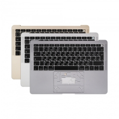 "Grey Silver Gold Topcase Russian for Apple Macbook Air Retina 13"" A1932 Chassis Palmrest Top Case with Keyboard and Backlit"