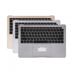 "Grey Silver Gold Topcase Korean for Apple Macbook Air Retina 13"" A1932 Chassis Palmrest Top Case with Keyboard and Backlit"